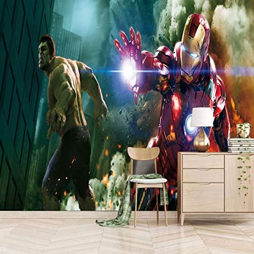 Msrahves papel pintado pared dormitorio Películas anime personajes héroes pared vinilos decorativos papel fotografico 3D Fondos de pantalla Fondo Pared Sala de estar Dormitorio TV Sofá Mural Papel tap