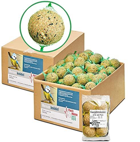 Paul´s Mühle Meisenknödel mit Netz im Karton, 200 Stück inkl. extra 6 Ganzjahresknödel