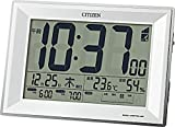 CITIZEN シチズン 置き時計 電波時計 温度計・湿度計付き パルデジットワイドDL 白 117x173x57mm 8RZ151-003