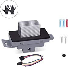 WMPHE HVAC AC Blower Motor Resistor kit With harness and instructions Compatible for Buick Rainier Cadillac Chevrolet GMC#15-81773, 89018778, 89019351 with A Pair of Gloves