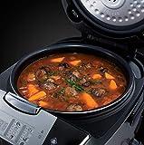Russell Hobbs 21850-56 Cook@Home Multicooker (900 Watt, 5 l, 11 Kochprogramme, Anti-Kondensations-Deckel, Warmhaltefunktion) schwarz/silber - 12