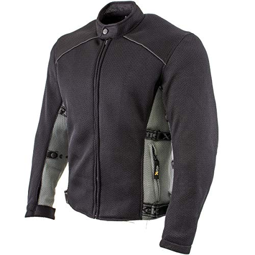Xelement CF505 Men's Black Advanced Mesh Sports Jacket with X-Armor Protection - X-Large