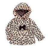 Pistachio Infant & Toddler Girls Brown Leopard Print Faux Fur Coat Winter Jacket