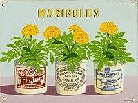 マリーゴールド、ブリキサインヴィンテージ面白い生き物鉄の絵の金属板ノベルティ