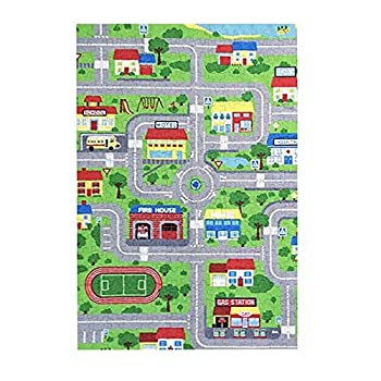 Inrubie Puzzles for Adults Kids 300 Piece,Cartoon City Street Map Jigsaw Puzzle,Educational Intellectual Decompressing Toy Game Puzzle