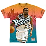 Mitchell & Ness Herren T-Shirt NBA Detroit Pistons Grant Hill City Pride Gr. XL, mehrfarbig