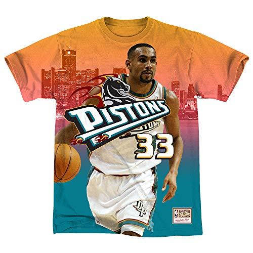 Mitchell & Ness - Maglietta da uomo NBA Detroit Pistons Grant Hill City Pride multicolore M