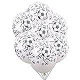 ZLJTT 10 Stücke 12 Zoll Latex Heliumballon 5 Stücke 18 Zoll Folienballon Junge Geburtstag Sport Thema Fußball Party DecorKid Toys, B 12 Zoll