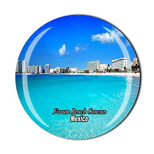 Forum Beach Cancun Meksyk magnes na lodówkę pamiątka prezent kryształowa kolekcja naklejek magnetycznych
