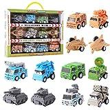 Herefun 12 Pcs Mini Coches Cars, Mini Die Cast Set, Juego de Coches de Juguete Vehículos, Tire hacia Atrás Coches de Juguetes para 3 años Niños Niñas