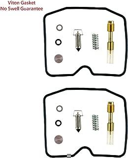 2 set of Carburetor Rebuild Repair Kit for Kawasaki el ex en 250 500 ex250 ex500 Carb Repair (With Viton Gasket/No Swell)