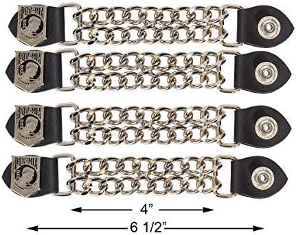 Dream Apparel POW MIA Vest Extender Chrome Double Diamond Cut Chrome Chain 4 product image