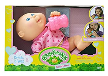 Cabbage Patch Kids Drink N  Wet Newborn Baby Doll - Girl in Purple Butterflies Fashion