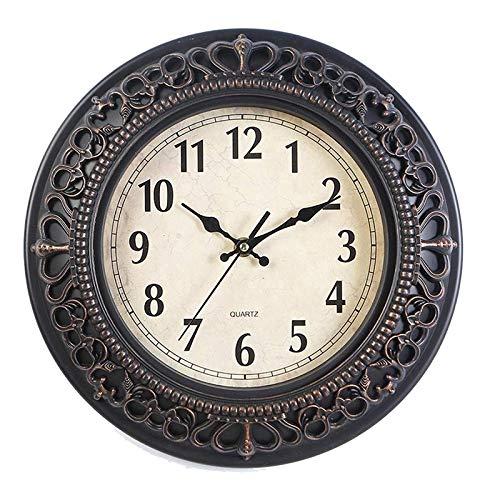QIU para Familia/Oficina/Escuela, Reloj de Pared de la Sala de sobrevivientes, Reloj de Dormitorio Reloj Retro, Reloj de Pared Ornamental de Reloj de Cuarzo de 10 Pulgadas