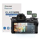 Poyiccot for Nikon Z6 Z7 Tempered Glass Screen Protector, (2-Pack) Optical 9H Hardness 0.3mm Ultra-Thin DSLR Camera Glass with Shoulder Screen Protector for Nikon Z6 Z7