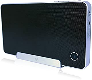 V7 (SP5500-BT-BLK-9NC) Portable Wireless Bluetooth Speaker Stand for Smartphones, iPhones, iPad, iPad Air, Tablet PC - BLACK