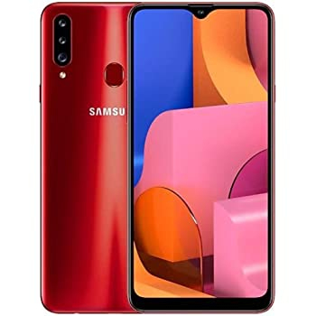 Samsung Galaxy A20s A207M/DS, 32GB/3GB RAM Dual SIM 6.5''HD+ Snapdragon 450, Factory Unlocked (International Version) - (Red)