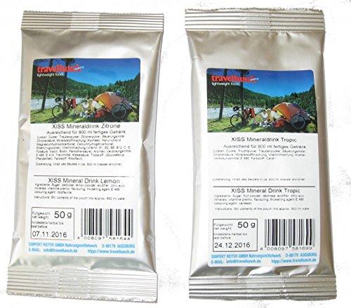 Travellunch XISS Mineraldrink Tropic und Zitrone, Ausführung:Zitrone