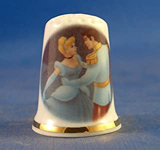 """Custom /& Collectible {25mm Hgt Mid-Size Sewing Thimble Made of Fine-Grade Porcelain Glass w//Pennsylvania State Flag /""""Virtue Liberty and /"""" Dec 12 1787 {White x 19mm Dia.} 1 Single Gold /& Blue}"""