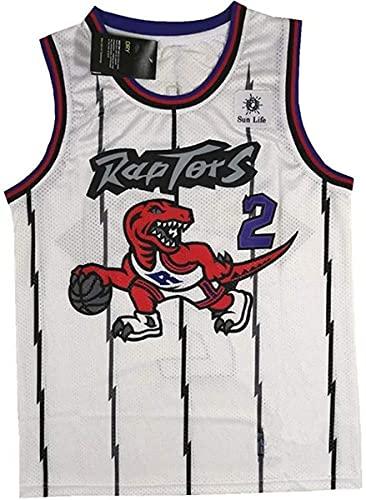 XSJY Jersey De Baloncesto para Hombres - NBA # 2 Kawhi Leonard Sportswear, Unisex Camiseta Sin Mangas Baloncesto De Malla Bordado Jersey Swingman,B,L:175~180cm/75~85kg