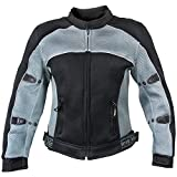 Best Xelement Armored Motorcycle Jackets - Xelement CF507 Women's 'Guardian' Black and Grey Mesh Review