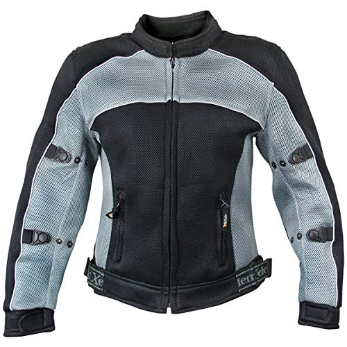 Xelement CF507 Women's 'Guardian' Black and Grey Mesh Jacket with X-Armor Protection - 2X-Large