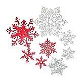 Copo de nieve de Navidad Troqueles de metal Troqueles de corte Plantillas de corte de papel Plantillas Molde cortador para hacer tarjetas Tarjetas de felicitación de álbum de recortes de bricolaje En