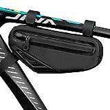 Cool Change Bike Bag Top Tube, Bike Frame Bag Triangle Waterproof Bicycle Under Tube Bag for MTB Road Bike, Cycling Accessories
