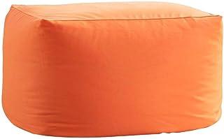 ビーズクッション 人をダメにするソファ 洗えるカバー クッション ソファ 極小ビーズ使用 Mサイズ もちもち 疲労を軽減 キューブチェア 昼寝 オレンジ(VK Living)