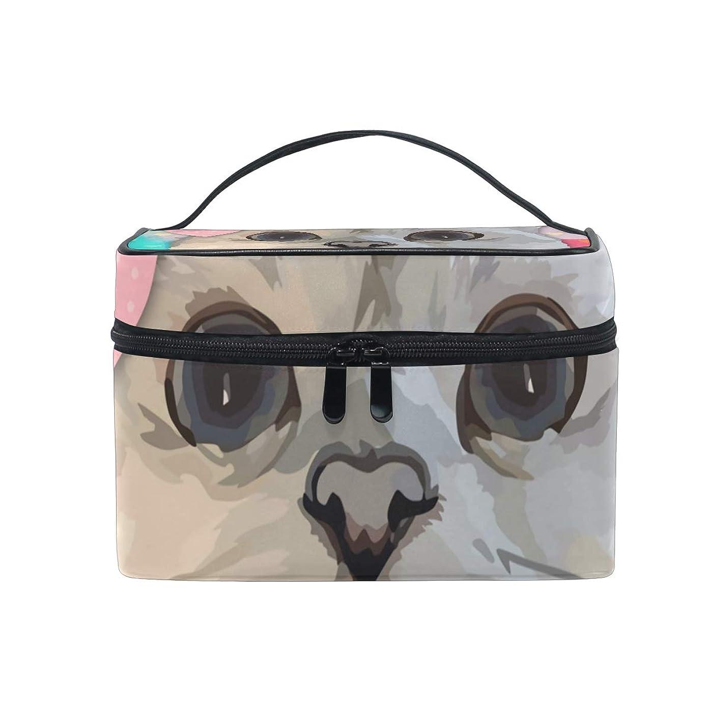 鋭く利点歩くメイクボックス 猫柄 花柄柄 化粧ポーチ 化粧品 化粧道具 小物入れ メイクブラシバッグ 大容量 旅行用 収納ケース