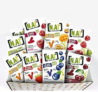 N.A! - Kit Sucré de 21 Sachets de Fruit Sticks framboise (x4), fraise (x3), myrtille (x4), pomme(x3), mangue/passion(x3), ...