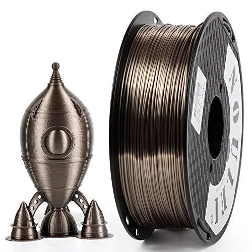 Noulei PLA Shiny Filament, 3D Drucker Filament 1.75mm, Silk ROSE GOLD, 1 kg Spool
