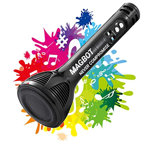 MAGBOT UFO Advance Handheld Wireless Singing Mike Multi-function Bluetooth Karaoke Mic with Microphone Speaker With Recording + USB+FM + SELFIE Features & Many More - Assorted Color