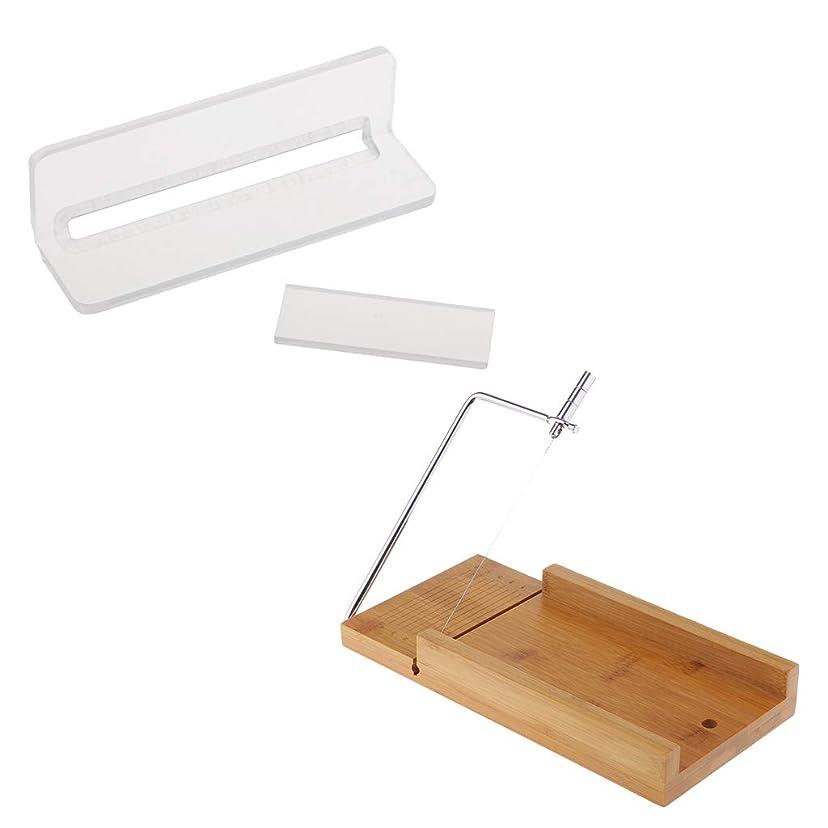 ネスト適用する枝ソープカッター 木製 石鹸カッター ローフカッター チーズナイフ 2個入り