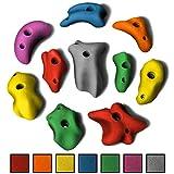 ALPIDEX 10 M - XL Klettergriffe im Set Leisten in vielen Farben, Positive Pinches für vielfältige Routen, ergonomische, kantenfreie Oberflächen, Farbe:Mixed Colour