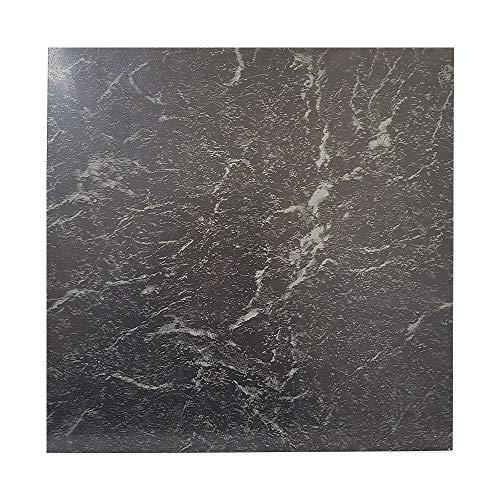 Floor Tiles self Adhesive Vinyl Flooring Kitchen Bathroom Black Marble...