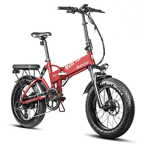 EAHORA X7 N 750W Foldable Electric Bike with 7-Speed Transmission