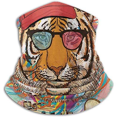 Hipster Rapper Tiger Mit Sonnenbrille Nackenwärmer Gamasche Sturmhaube Skimaske Gesichtsmaske Hüte Kopfbedeckungen