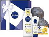 NIVEA Q10 Geschenkbox, Pflege Set mit praktischem Faszienball, Q10 Body Lotion, Hand Creme und...