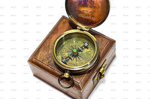 strir imperm/éable laiton Boussole de poche montre de compas de style classique marche boussole Vintage Antique avec lumi/ère de plein air pour camping randonn/ée Navigation