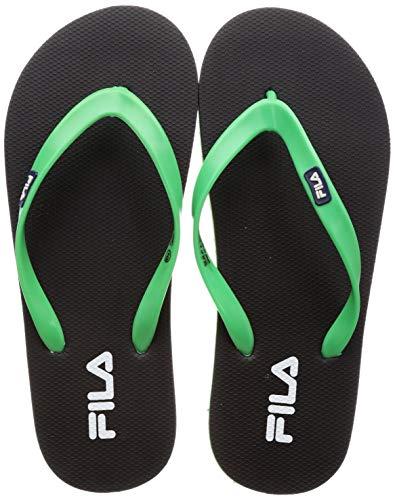 Fila Men Hume Black/Green Slippers-10 UK (44 EU) (11 US) (11008227)