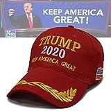 1 ピースドナルドトランプTrump2020投票キャップキャップ帽子、MAGAトランプ野球帽、アメリカを大きく保つ - 大統領トランプ帽子ファンシードレス父の日ギフト 224,Red