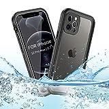 BDIG Custodia iPhone 12 Pro Max Impermeabile, IP68 Certificato Waterproof Cover Slim Antiurto Antineve Antipolvere AntiGraffio Subacquea Caso Full Protezione Impermeabile Custodia per iPhone 12 ProMax