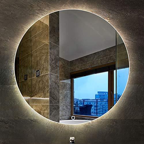 Spiegel voor badkamerspiegel met verlichte spiegel rond LED-spiegel voor muurspiegel voor make-up 5 mm HD zilver anti-condens met touch-schakelaar