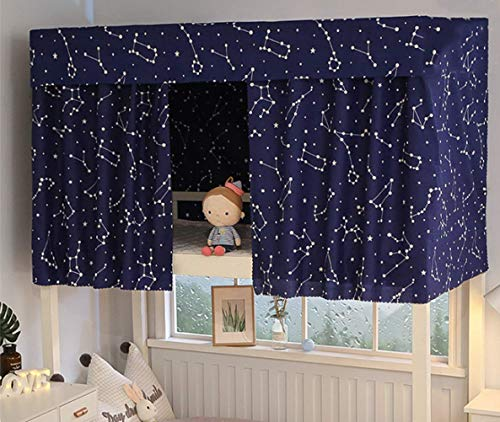 Dormitory Bunk Bed Curtains Bed Canopy Single Sleeper Bed Curtain Home Dorm Blackout Cloth Breathable Dustproof Shading Nets Bedding Curtain for Girl and Boy Students