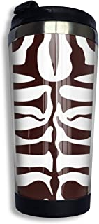 CUMORE Tiger Stripes Stainless Steel Tumbler Coffee Cup With Spill Proof Lid 10oz