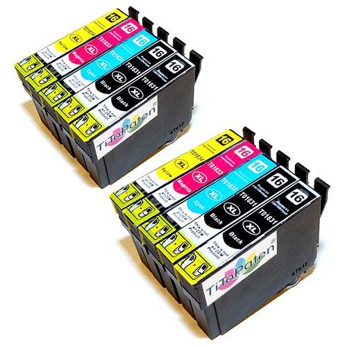 10x Epson Workforce WF 2510 WF kompatible XL Druckerpatronen - 4xSchwarz-2xCyan-2xMagenta-2xGelb - Patrone MIT CHIP !!!