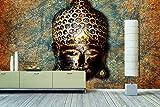 WandbilderXXL Vlies-Fototapete'Buddah Head' 240x160cm - afrikanische Masken und Sugar Sculls. Top Style für Deine 4 Wände. Nur von WandbilderXXL.