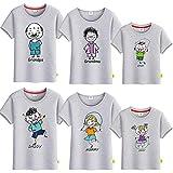 SANDA T-Shirt Mujer Gris,Vestido de Verano para Padres y niños, una Camiseta de Manga Corta de Cinco a Seis Abuelas Abuela, Toda la Familia bendice a la Familia-Gris_Papá s