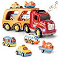 Toys for 1 2 3 4 5 6 Year Old Boys,5 in 1 Carrier Truck Transport Car Play Vehicles Toys, Toddler Boy Toys for Girls Kids Toddlers from Temi